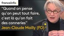 """""""Quand on pense qu'on peut tout faire, c'est là qu'on fait des conneries"""" : Jean-Claude Mailly (FO) met en garde Emmanuel Macron """"il ne faut pas confondre vitesse et précipitation"""""""