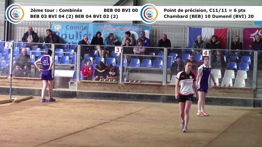 Second tour intégral, Club Elite Féminin, demi-finale aller, Bourg-en-Bresse contre Bièvre Isère,, saison 2017-2018