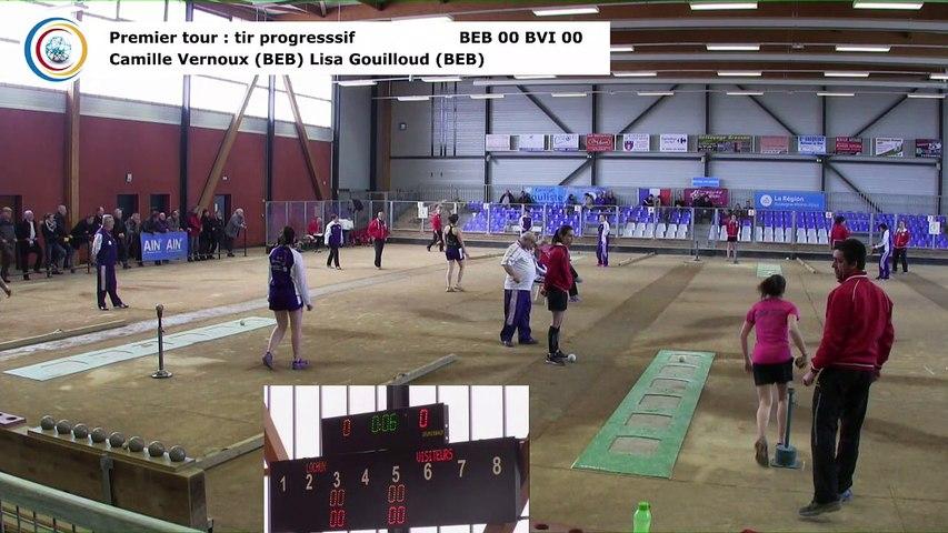 Premier tour, tir progressif, Club Elite Féminin, demi-finale aller, Bourg-en-Bresse contre Bièvre Isère,, saison 2017-2018