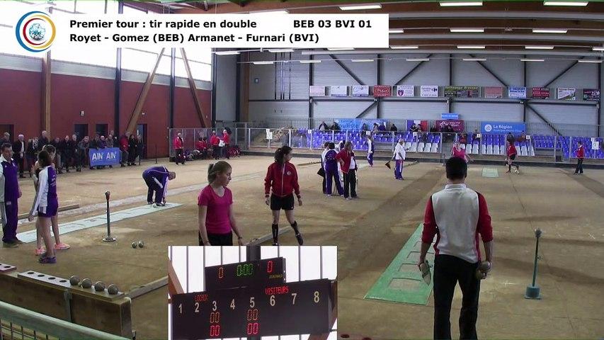 Premier tour, tir rapide en double, Club Elite Féminin, demi-finale aller, Bourg-en-Bresse contre Bièvre Isère,, saison 2017-2018