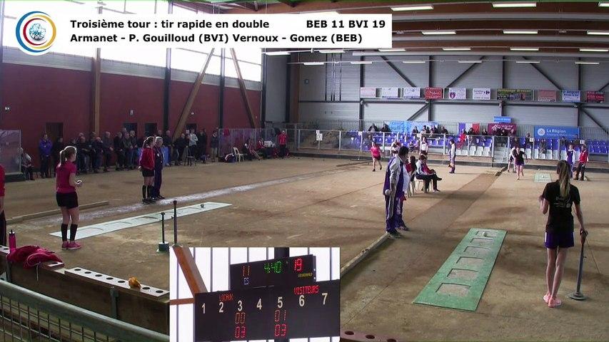 Troisième tour, tir rapide en double, Club Elite Féminin, demi-finale aller, Bourg-en-Bresse contre Bièvre Isère,, saison 2017-2018
