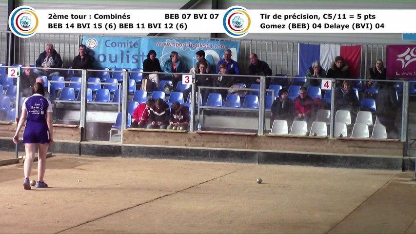 Second tour, second  tir de précision, Club Elite Féminin, demi-finale aller, Bourg-en-Bresse contre Bièvre Isère,, saison 2017-2018