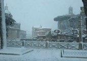 Rare Snowfall Blankets Roman Forum