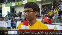 Peshawar zalmi Ibtisam Sheikh brilliant response Rameez Raja after victory my teacher Anil Kumble - YouTube