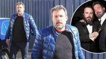 Blue it! Ben Affleck sports puffer coat and matching sneakers in Los Angeles... as his brother Casey pulls out of Oscars.