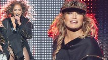 His biggest cheerleader! Jennifer Lopez declares her love for beau Alex Rodriguez as she sports his team's hat during sizzling Las Vegas show.