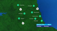 Tyne and Wear Evening Weather 26/02/18