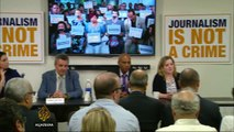UN Correspondents Association holds solidarity meeting for AJ journalists