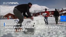 Igloo village built by migrants hands lifeline to dying Italian ski resort