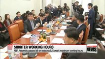 Nat'l Assembly committee passes bill on reducing S. Korea's working hours