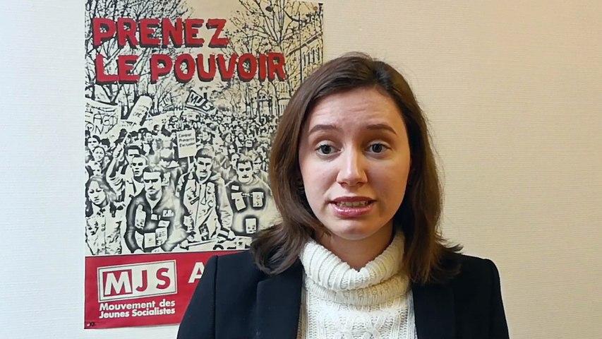 Roxane Lundy apporte le soutien des Jeunes Socialistes Français.e.s à leurs camarades Allemands des JUSOS dans leur campagne pour refuser une nouvelle grande coalition.