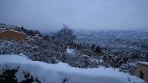 Les images de Cabris sous la neige, dans les Alpes-Maritimes