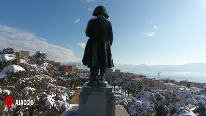 Des images exceptionnelles de la Corse enneigée