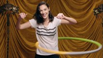 Gal Gadot Shows Off Her Hula Hooping Skills