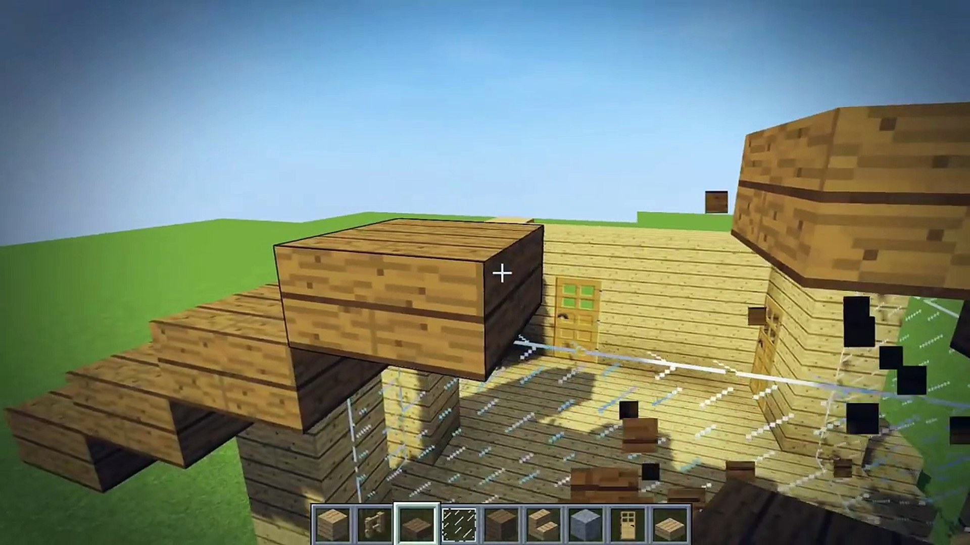 Minecraft 10x10 Starter House Tutorial How To Build A House In Minecraft Video Dailymotion