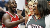 James Harden's Mom Causes Chris Paul to Turn the Ball Over