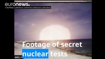 Archive footage of secret US nuclear tests made public