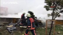 Five killed as helicopter crashes onto motorway in Istanbul