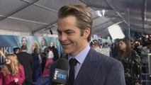 """Chris Pine Talks Working With Oprah on """"A Wrinkle in Time"""""""