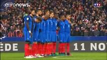 Minute's silence at Stade de France in memory of Paris attacks
