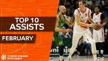 Turkish Airlines EuroLeague, Top 10 Assists, February