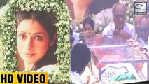 (Video) Sridevi Taken For LAST RITES   Jhanvi Kapoor, Anil Kapoor, Arjun Kapoor