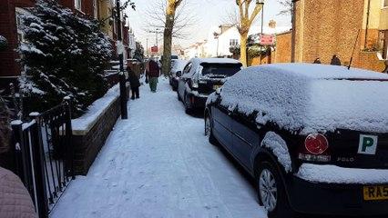 Snow falling Southall UK 2018 PART 3
