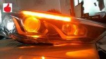 Car Lights For Ford Focus 3 sedan Hatchback LED Lights Kit Head lights DRL  On Switch lights Auto Front lights video