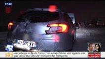 À cause de la neige, des centaines d'automobilistes ont passé la nuit sur l'A9 près de Montpellier