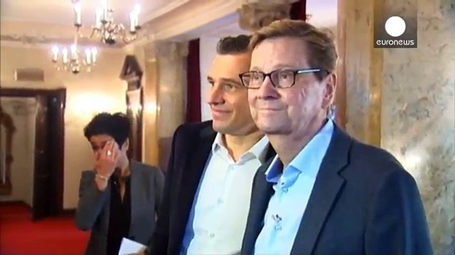 Tributes to former German foreign minister Guido Westerwelle