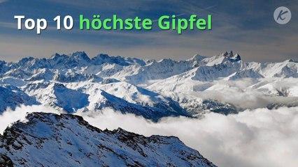 Top 10 höchste Gipfel