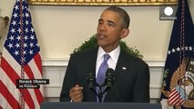 Obama hails Iran nuclear deal, prisoner swap and 'strong American diplomacy'