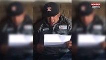 Un homme fond en larmes en apprenant qu'il est désormais légalement le père de sa belle-fille (Vidéo)