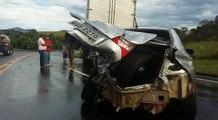 Acidente na BR 101, na Serra, na manhã desta quinta-feira (01)