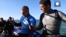 Surfer fights off great white shark mid-competition