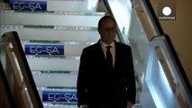 An historic trip for France's Francois Hollande in Cuba