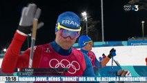 Richard Jouve médaillé de bronze en ski de fond aux jeux d'hiver de retour chez lui en héros à Montgenèvre