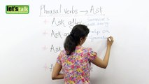 Phrasal verbs with ASK -- English Grammar Lesson