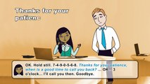Taking telephone messages - 53 - English at Work helps you note it down