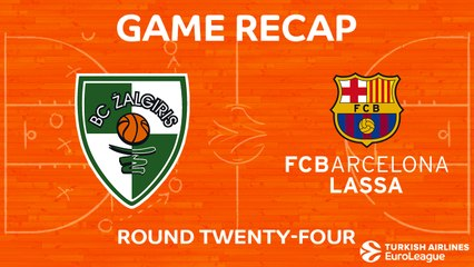 EuroLeague 2017-18 Highlights Regular Season Round 24 video: Zalgiris 90-74 Barcelona