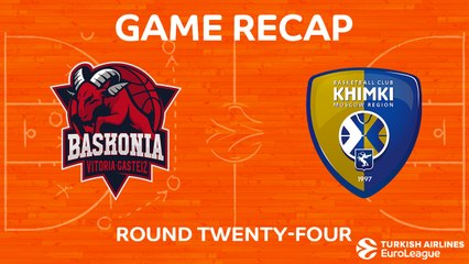 EuroLeague 2017-18 Highlights Regular Season Round 24 video: Baskonia 87-77 Khimki