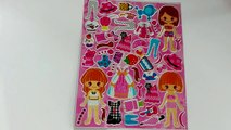 Toys Paper Dolls Dress-Up Stickers   Sticker game   Kids rhymes Music   Baby Play time with sticker