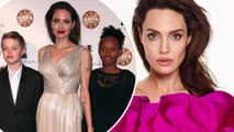 'Anyone can put on a dress and makeup, it's your mind that will define you': Angelina Jolie reveals advice she gave daughters as she talks to John Kerry.