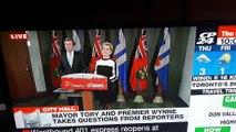 Hurlements d'une femme hystérique en plein discours en direct à la TV !