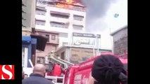 Beyoğlu�nda korkutan yangın... 5 katlı bina alev alev yandı