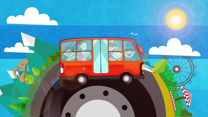 The Wheels On The Bus - Orange Bus - Popular Nursery Rhyme