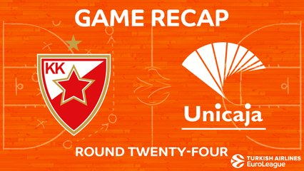 EuroLeague 2017-18 Highlights Regular Season Round 24 video: Zvezda 80-76 Unicaja