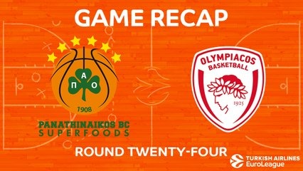 EuroLeague 2017-18 Highlights Regular Season Round 24 video: Panathinaikos 85-87 Olympiacos