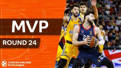 Round 24 MVP: Tornike Shengelia, Baskonia Vitoria Gasteiz