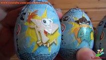Phineas and Ferb Surprise Eggs Disney Chocolate eggs Финес и Ферб шоколадные яйца Дисней